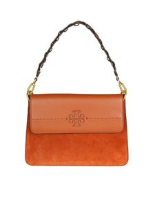 Tory Burch - Borsa McGraw Mixed Materials color ruggine