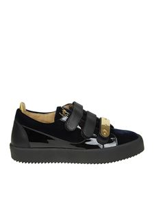 Giuseppe Zanotti - Black and blue May sneakers