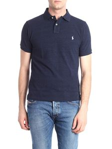POLO Ralph Lauren - Blue melange polo with logo embroidery