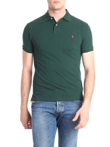 POLO Ralph Lauren - Dark green polo with red logo embroidery