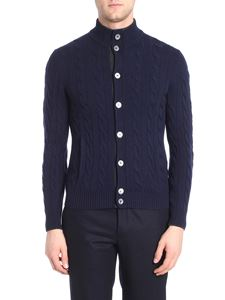 Barba - Blue knitted cardigan