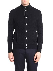Barba - Black knitted cardigan