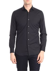 Barba - Black french collar shirt