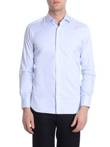 Barba - Light blue shirt with French collar