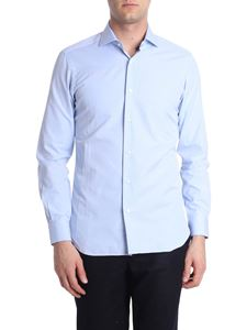 Barba - Light blue striped shirt