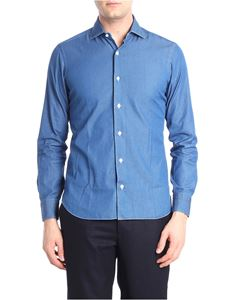 Barba - Blue chambray shirt