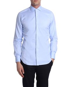Barba - Light blue Oxford fabric shirt