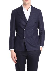 Barba - Blue and brown pinstriped jacket