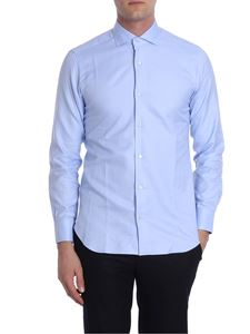 Barba - Light blue shirt with micro pattern