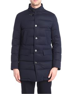Fay - Blue long down jacket