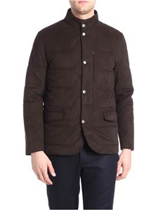 Corneliani - Brown peach-effect fabric jacket