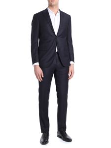 Corneliani - Blue pinstriped Academy two buttons suit