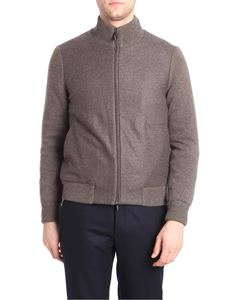 Corneliani - Brown cashmere padded jacket
