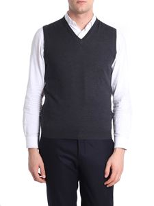 Zanone - Charcoal virgin wool vest