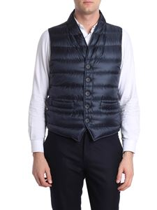 Herno - Blue quilted sleeveless down jacket