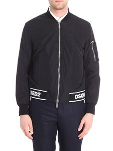Dsquared2 - Black bomber jacket with black and white logo