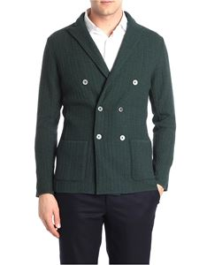 Lardini - Forest green double-breasted wool jacket