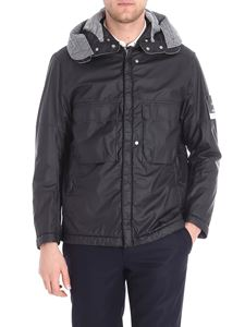 Stone Island - Black technical fabric padded jacket