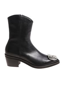 Coliac - Cassius black pointy ankle boots