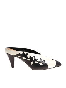 Coliac - White and black Polly mules