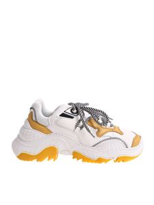 N° 21 - White and yellow Chunky sneakers