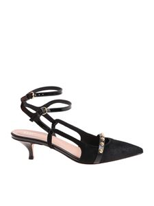 Red Valentino - Black pointy shoes with studs