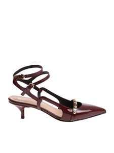 Red Valentino - Burgundy patent leather shoes