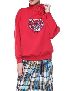 Kenzo - Red Tiger sweatshirt with ruffles