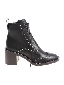 Jimmy Choo - Black Hanah ankle boots with pearls