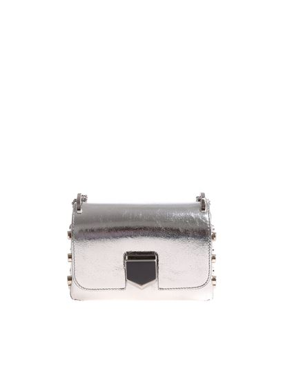 f2dd06faf17e Jimmy Choo Fall Winter 18 19 lockett mini silver bag - LOCKETT MINI ...
