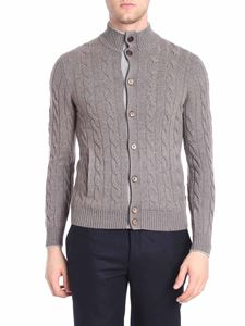 Barba - Dove grey knitted cardigan