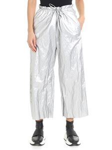 MM6 by Maison Martin Margiela - Metallic silver trousers