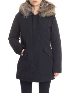 Woolrich - Black down jacket with beige Murmasky fur