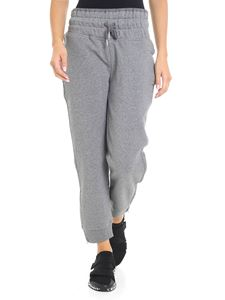 Adidas by Stella McCartney - Grey melange sweatpants with logo embroidery