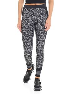 Adidas by Stella McCartney - Black leggings with white floral pattern