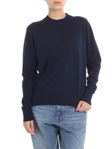 Calvin Klein - Blue pullover with logo embroidery