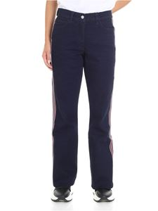 Calvin Klein - Blue boot cut jeans with side bands