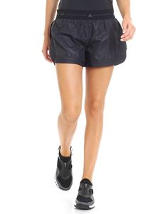 Adidas by Stella McCartney - Black shorts with tone-on-tone pattern