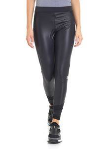 Adidas by Stella McCartney - Black leggings with waist branded band