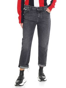 Pence - Black Giada jeans with vintage effect