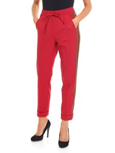 Parosh - Red trousers with side contrasting band