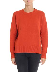 Etro - Red pullover with side buttons