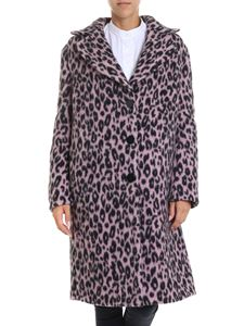 Ermanno Scervino - Black and pink animal printed coat