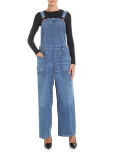Diesel - Light blue denim palazzo dungarees