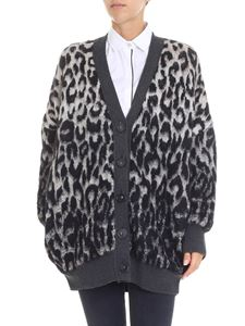 Stella McCartney - Grey and black animal printed cardigan