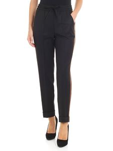 Parosh - Black trousers with contrasting details