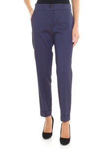 Etro - Blue and red jacquard trousers