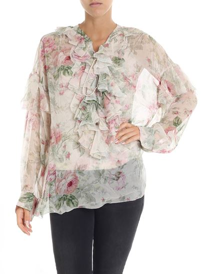 244683e368a POLO Ralph Lauren Fall Winter 18/19 floral print beige blouse with ...