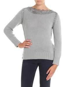 Ermanno Scervino - Grey pullover with lace details