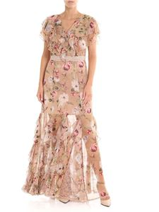 Alice + Olivia - Sand-colored Cassidy floral printed long dress